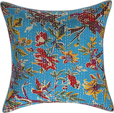 JGS Floral Cushions & Pillows Cover(40 cm*40 cm, Blue)