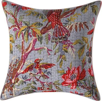 JGS Floral Cushions & Pillows Cover(40 cm*40 cm, Grey)