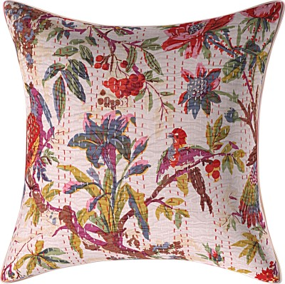 JGS Floral Cushions & Pillows Cover(40 cm*40 cm, Beige)