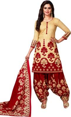 DIVI Poly Crepe Floral Print Salwar Suit Material(Unstitched)