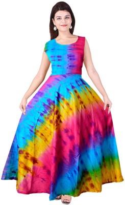 JWF A line Gown Multicolor