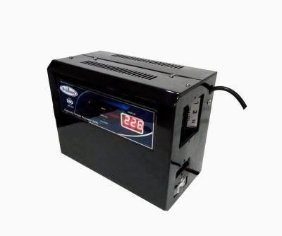 Pulstron PTI WM1095D 1 KVA  90V 290V  Single Phase Automatic Voltage Stabilizer For Refrigerator Black