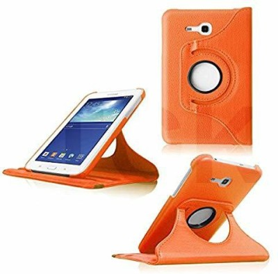 TGK Book Cover for Samsung Galaxy TAB 3, TAB 3V, SM- T116, SM- T113, SM- T110, SM- T111 (7.0 inch NEO Lite)(Orange, Cases with Holder)