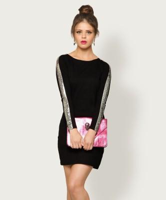 Miss Chase Women Sheath Black Dress at flipkart