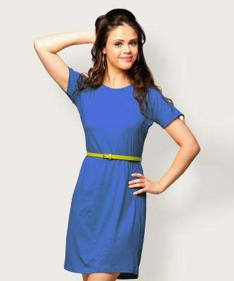 Miss Chase Women Shift Blue Dress