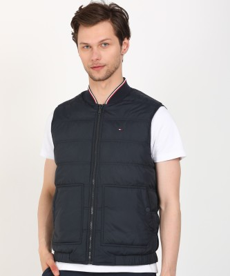 Tommy Hilfiger Sleeveless Solid Men Jacket at flipkart