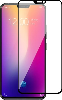 flysto Edge To Edge Tempered Glass for Vivo X21 ( BLACK )(Pack of 1)