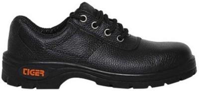 Mallcom Tiger Tiger Safety Shoe Steel Toe PVC Safety Shoe(Black, S1)