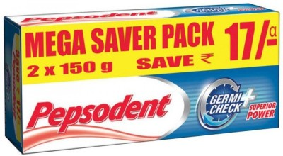 Pepsodent Germicheck Toothpaste Value Saver Pack (2x150g) (Pack of 2) Toothpaste(300 g, Pack of 2)