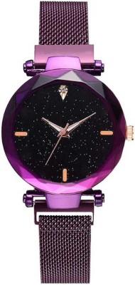 HARMI CREATIVE Luxury Mesh Magnet Buckle Starry sky Quartz Watches For girls Fashion Analog Watch  - For Girls