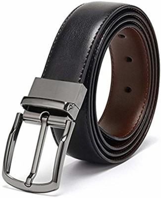 sskk Men Casual Black, Brown Artificial Leather Reversible Belt