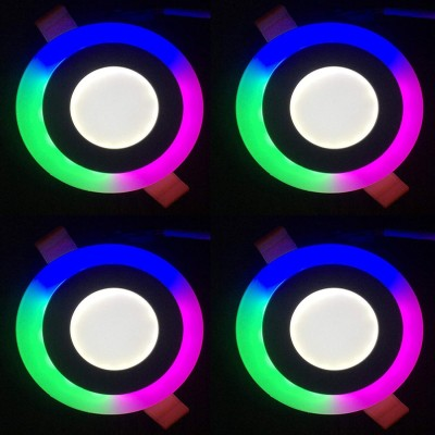 GALAXY 6 watt (3+3) LED Round Panel Light Ceiling POP Down Indoor...