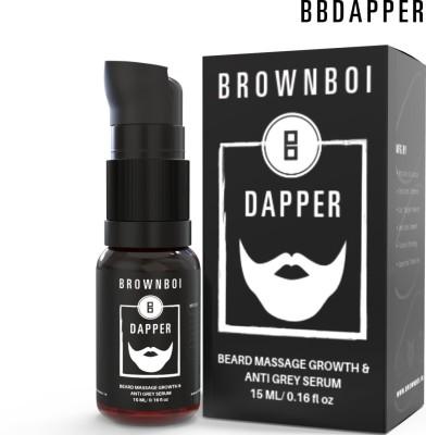 BrownBoi BBDAPPER Beard Growth Massage & Anti Grey Serum Vitalizer(15 ml)