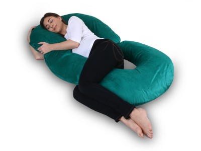 Momsyard Cotton Solid Pregnancy Pillow Pack of 1(bottle Green)