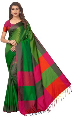 vinayak trendz Printed Mysore Art Silk Saree(Green)