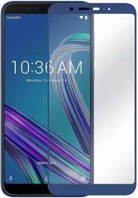 SHRINO Edge To Edge Tempered Glass for Shrino™ Tempered Glass Screen Protector 6D/11D Full Gum Blue Colour For Asus Zenfone Max Pro M1(Pack of 1)