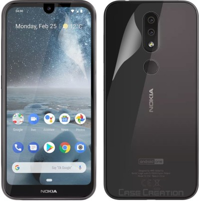 Case Creation Front and Back Screen Guard for Nokia 4.2(Pack of 2)