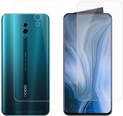 Case Creation Front and Back Screen Guard for Oppo Reno(Pack of 2)