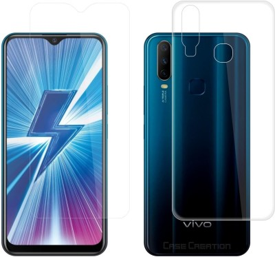 Case Creation Front and Back Screen Guard for Vivo Y17(Pack of 2)