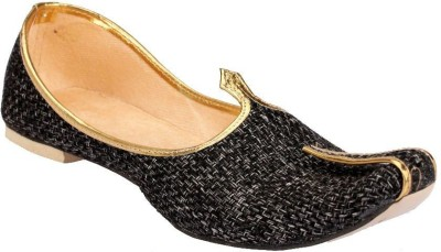 Rajsahi Party Wear For Men Gold, Black Rajsahi Ethnic Shoes