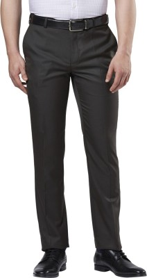 Raymond Slim Fit Men Brown Trousers at flipkart