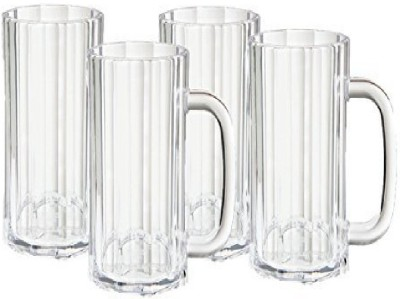 VIVAAN 4 GLASS Glass Set(Plastic, 200 ml, Clear, Pack of 4)