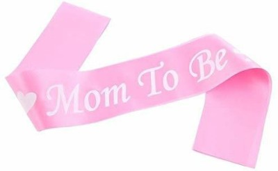 FOK Satin Mom to Be Sash for Baby Shower Decoration Acessory - Pink