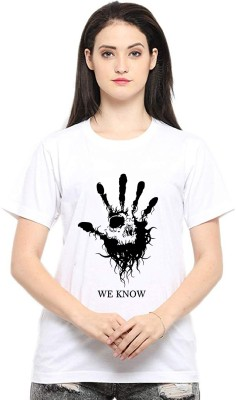 Epic Prints Graphic Print Women Round Neck White T Shirt