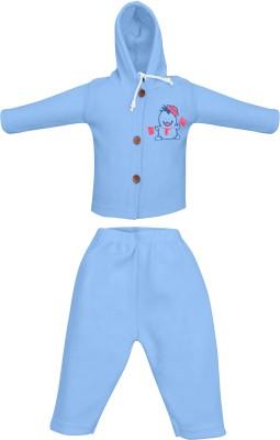 MyKid Top - Pyjama Set For Boys & Girls(Blue, Pack of 2)