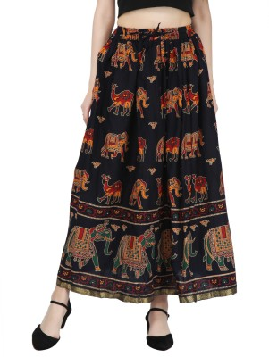Decot Paradise Printed Women Regular Multicolor Skirt at flipkart