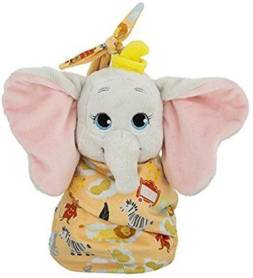 Disney Parks Baby Dumbo in a Pouch Blanket Plush Doll   4.2 inch Multicolor Disney Parks Soft Toys