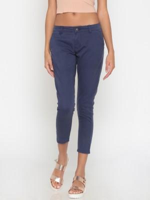 People Regular Fit Women Blue Trousers