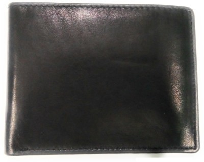 Smartlife Boys Black Genuine Leather Wallet(2 Card Slots)
