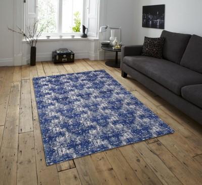Flipkart SmartBuy Blue, Beige Blended Carpet(134 cm X 210 cm)