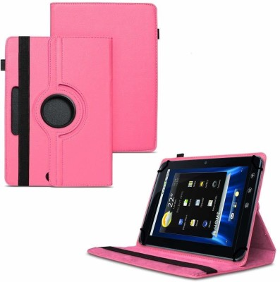 """TGK Flip Cover for Dell Streak 7 4G Android Tablet 7""""/ 360 Degree Rotating Universal Case With Three Camera Hole(Pink, Cases with Holder)"""
