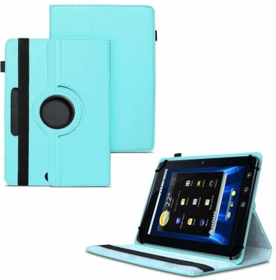 """TGK Flip Cover for Dell Streak 7 4G Android Tablet 7""""/ 360 Degree Rotating Universal Case With Three Camera Hole(Blue, Cases with Holder)"""