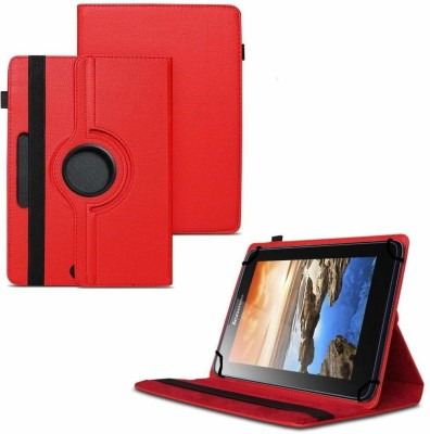 TGK Flip Cover for Lenovo A7-50 Tablet 7 inch / 360 Degree Rotating Universal Case With Three Camera Hole(Red, Cases with Holder)