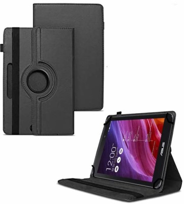 """TGK Flip Cover for Asus Fonepad 7 2014 FE170CG Tablet 7""""/ 360 Degree Rotating Universal Case With Three Camera Hole(Black, Cases with Holder)"""