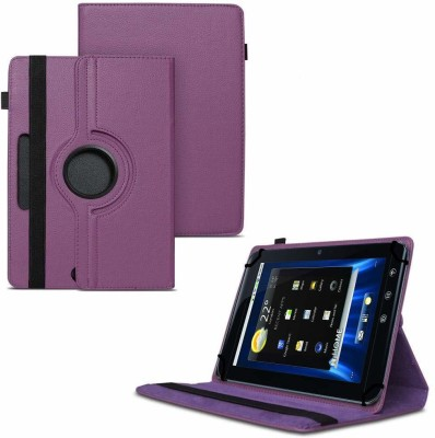 """TGK Flip Cover for Dell Streak 7 4G Android Tablet 7""""/ 360 Degree Rotating Universal Case With Three Camera Hole(Purple, Cases with Holder)"""