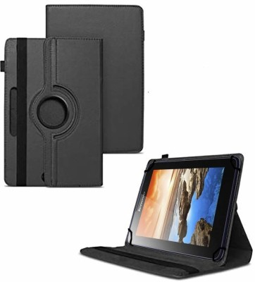 TGK Flip Cover for Lenovo A7-50 Tablet 7 inch / 360 Degree Rotating Universal Case With Three Camera Hole(Black, Cases with Holder)