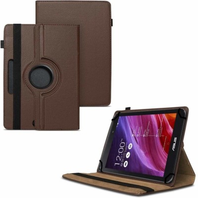 """TGK Flip Cover for Asus Fonepad 7 2014 FE170CG Tablet 7""""/ 360 Degree Rotating Universal Case With Three Camera Hole(Brown, Cases with Holder)"""