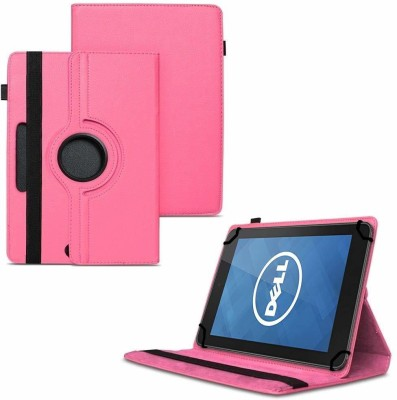TGK Flip Cover for Dell Venue 7 Tablet / 360 Degree Rotating Universal Case With Three Camera Hole(Pink, Cases with Holder)