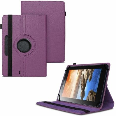 TGK Flip Cover for Lenovo A7-50 Tablet 7 inch / 360 Degree Rotating Universal Case With Three Camera Hole(Purple, Cases with Holder)