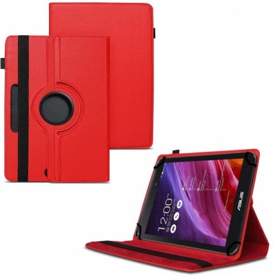 """TGK Flip Cover for Asus Fonepad 7 2014 FE170CG Tablet 7""""/ 360 Degree Rotating Universal Case With Three Camera Hole(Red, Cases with Holder)"""