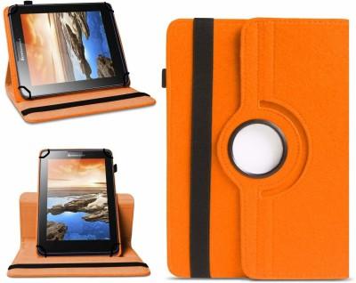TGK Flip Cover for Lenovo A7-50 Tablet(Orange, Cases with Holder)