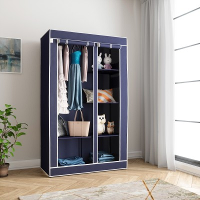 Flipkart SmartBuy 2 Door 6 Shelf PP (Polypropylene) Collapsible Wardrobe(Finish Color - Blue)