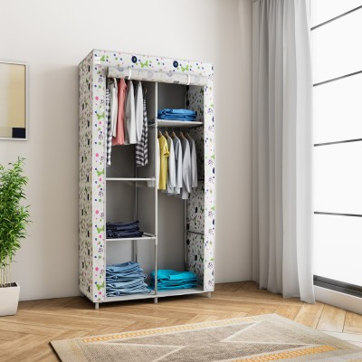 Flipkart SmartBuy 2-Door 4-Shelf PP (Polypropylene) Collapsible Wardrobe(Finish Color - Lotus Pond)