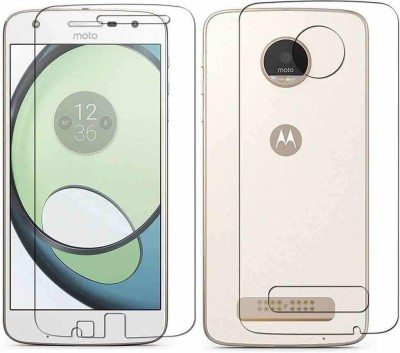COZR Front and Back Screen Guard for Motorola Moto Z Play(Pack of 2)