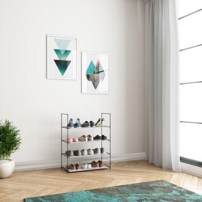 Flipkart Perfect Homes Studio Metal Collapsible Shoe Stand(Grey, 4 Shelves)