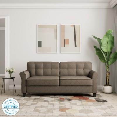 Flipkart Perfect Homes Faroe Fabric 3 Seater  Sofa(Finish Color - Khaki)